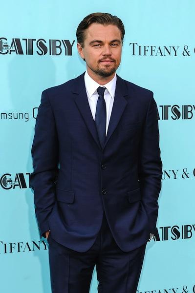Leonardo DiCaprio spruking The Great Gatsby