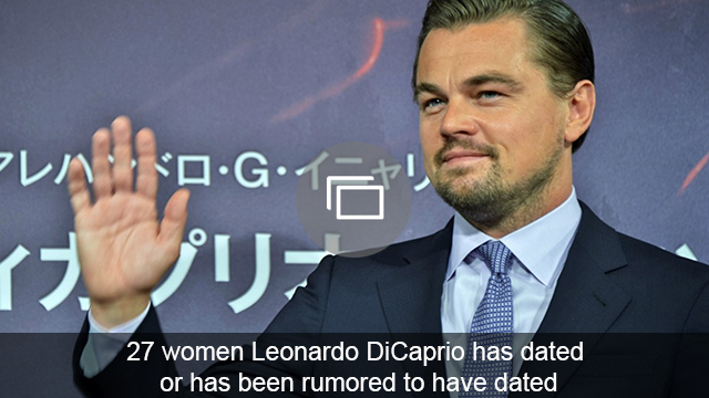 Leonardo DiCaprio girlfriends slideshow