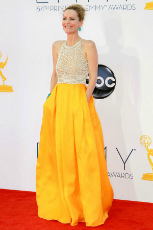 Actress Leslie Mann at the 64th Annual Primetime Emmy Awards