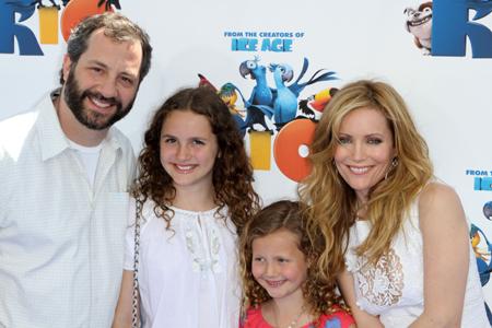 Lelie Mann, Judd Apatow and kids