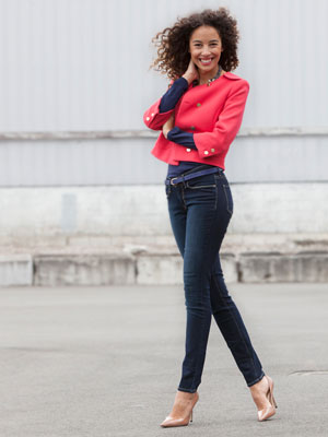 Woman wearing pull-on skinny jeans | Sheknows.ca