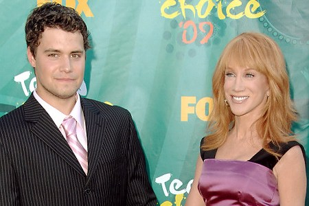 Kathy Griffin and her Playgirl date, Levi Johnston