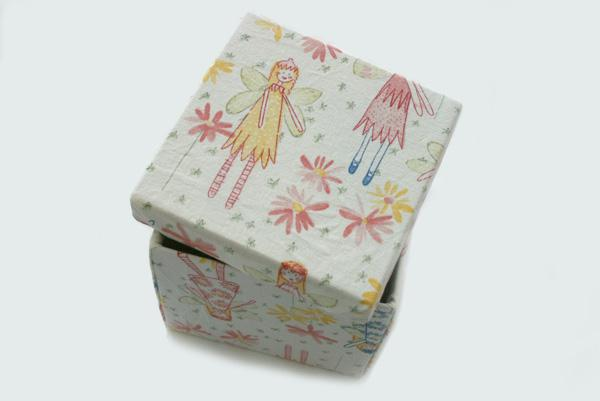 DIY fabric-covered boxes
