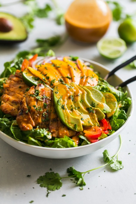 Grilled Sweet Chili Chicken and Mango Salad