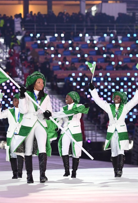 Team Nigeria Opening Ceremony Winter Olympics 2018