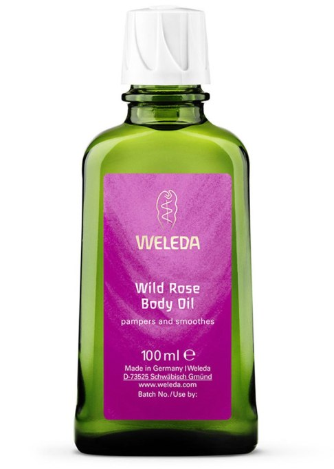 Body Oils To Layer Over Your Lotion: Weleda Wild Rose Body Oil | Fall Skin Care