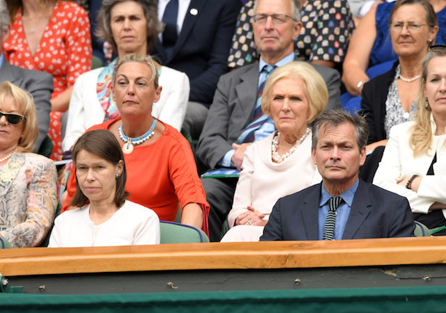 Lady Sarah Chatto and Daniel Chatto attend day eight of the Wimbledon Tennis Championships
