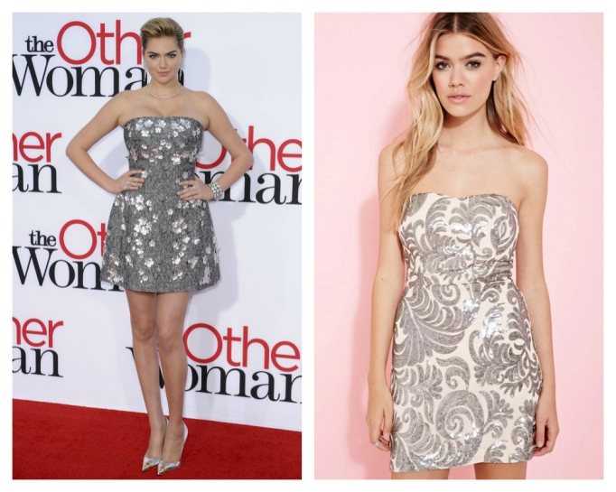 kate upton silver dress