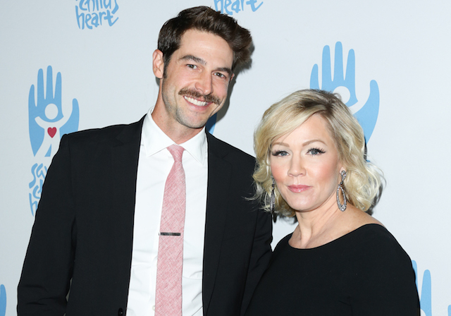 Dave Abrams & Jennie Garth attend the 2nd Annual Save A Child's Heart Gala at Sony Pictures Studios