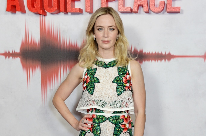 Emily Blunt attends an immersive fan screening of A Quiet Place