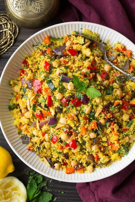 Moroccan couscous with roasted vegetables recipe