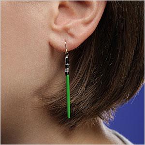 Light sabre earrings