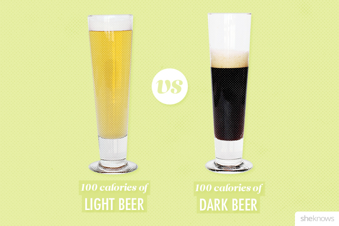 What 100 calories of beer looks like