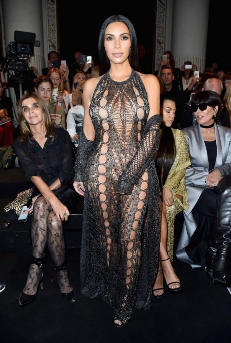 Kim Kardashian's Most Naked Looks: Attending the Balmain show | Kim Kardashian Fashion