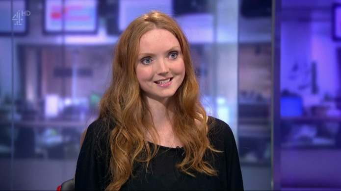 Supermodel Lily Cole promotes Project Literacy