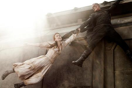 Lily Collins and Paul Bettany in Priest