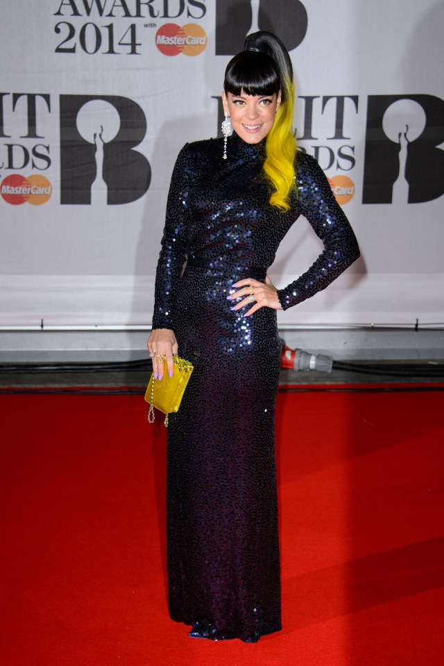 Lily Allen at the 2014 BRITS