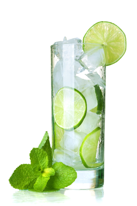 Mint-lime water