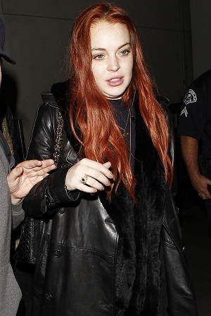 Lindsay Lohan at LAX