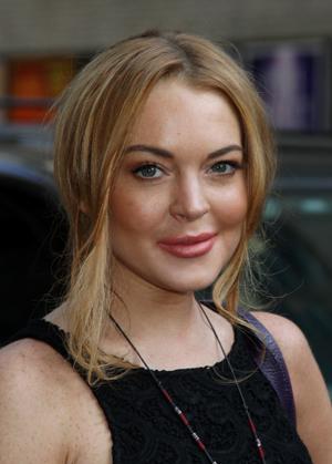Lindsay Lohan after appearing on David Letterman