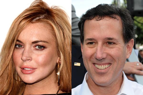 Rick Santorum loves Lindsay Lohan