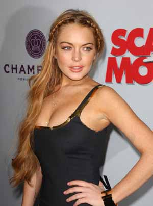 Lindsay Lohan at the Scary Movie premiere