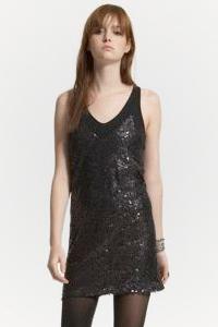Little Black Sequined Dress