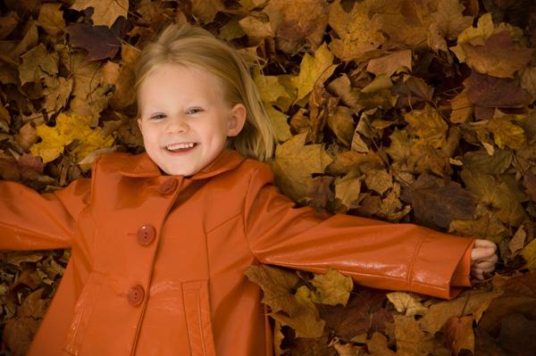 Little Girl in Fall Jacket