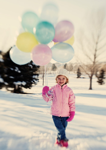 Little Girl With Birthday Balloons