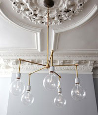 Modern bulb chandelier