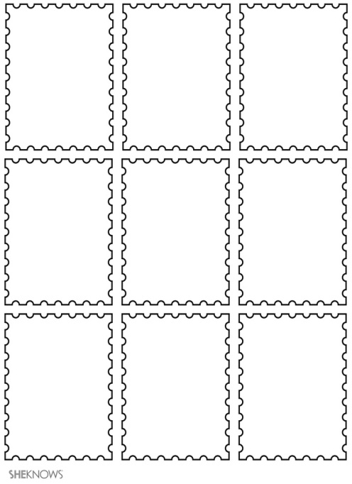 Craft template design stamps