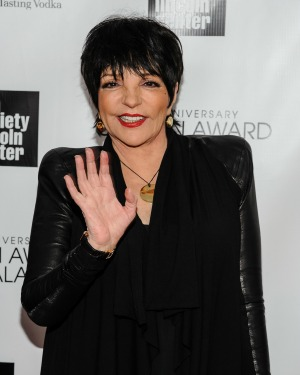 Liza Minnelli performed at a New York benefit with a broken wrist