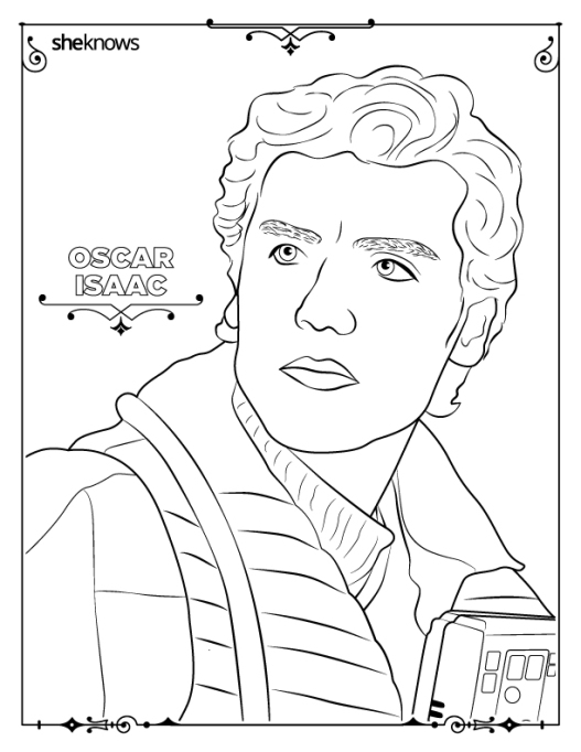 Oscar Isaac coloring-book page