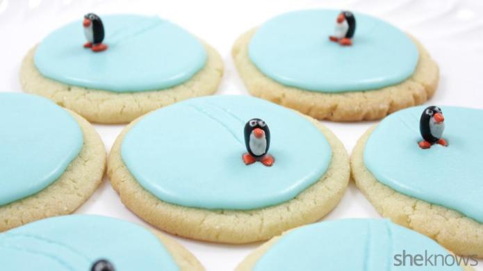 Ice skating penguin cookies will be