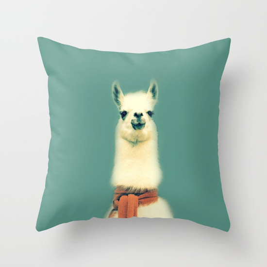 Gifts for Impossible People | Llama Throw Pillow at Society6