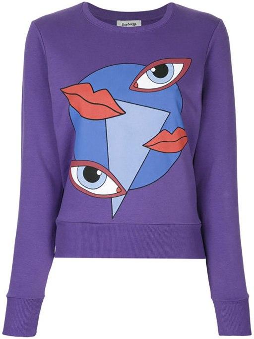 Ways To Wear Graphic Prints: Yazbukey sweatshirt at Farfetch | Fall Fashion