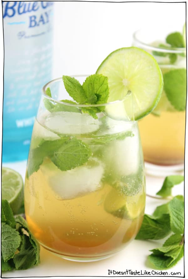 Summer Iced Tea Cocktail Recipes: Agave green tea mojitos