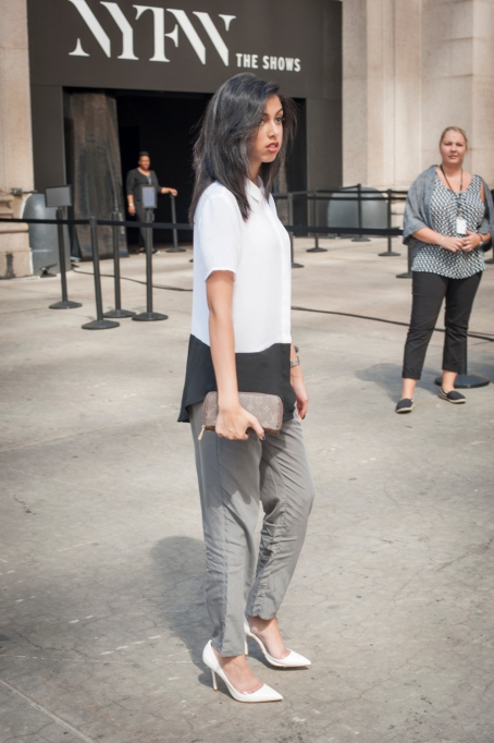 Fashion week street style business outfit