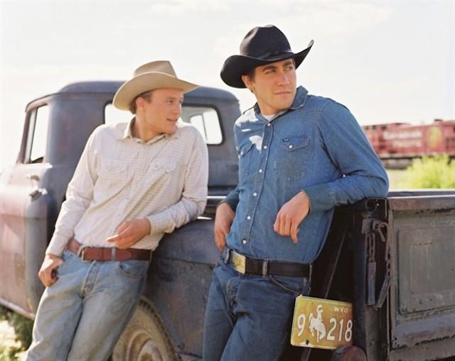Still of Heath Ledger and Jake Gyllenhaal in 'Brokeback Mountain'
