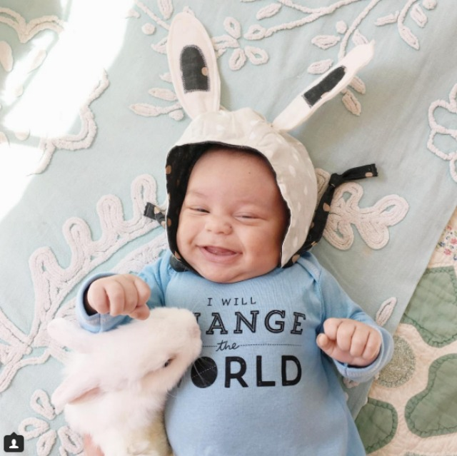 Pictures of baby with cute animals