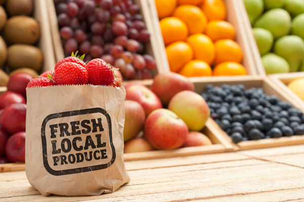 Local produce in bag
