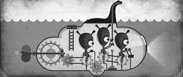 Google Loch Ness doodle