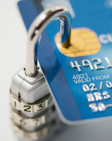 Security lock on credit card
