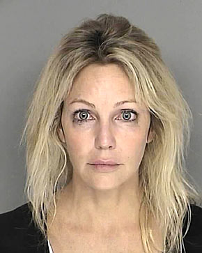 Locklear's mugshot from her DUI arrest that has been dropped