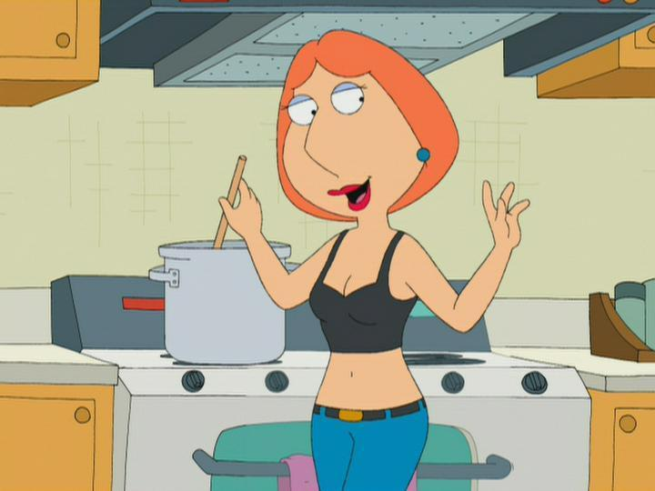 Lois Griffin's cartoon hairstyle