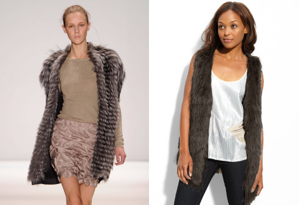 Long fur vests