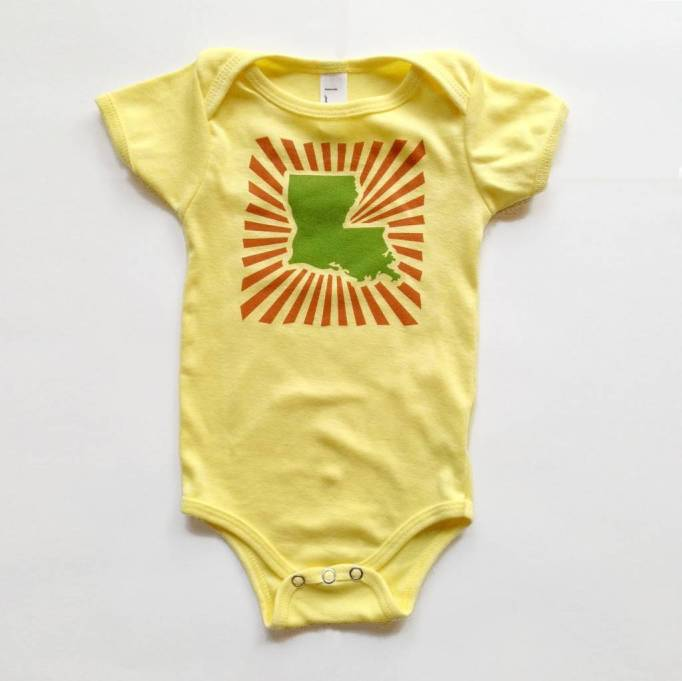 Louisiana Baby Onesie