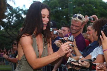 Evangeline Lily at the Lost season six premiere in Hawaii