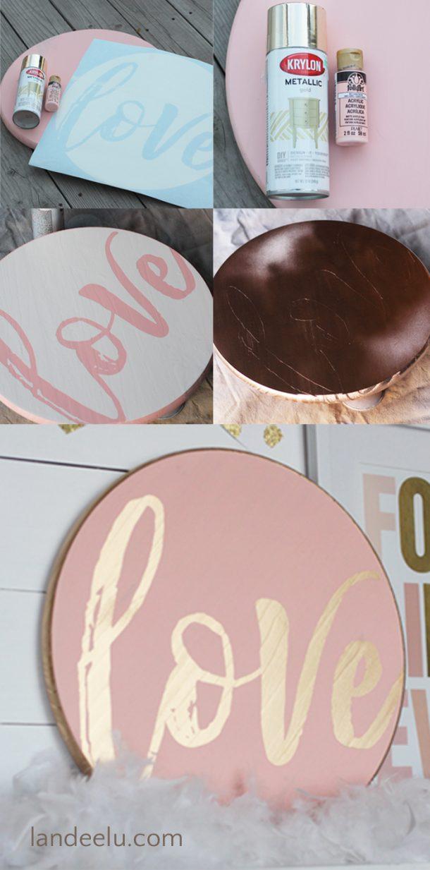 Valentine's Day Decor: Love Circle