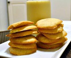 Low fat eggnog cookies